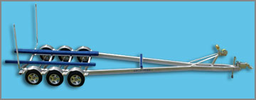 Triple axle boat trailer